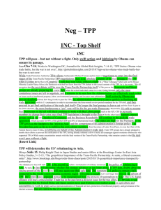 Neg – TPP - Open Evidence Project