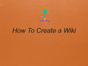 How To Create a Wiki - christineandersonca676