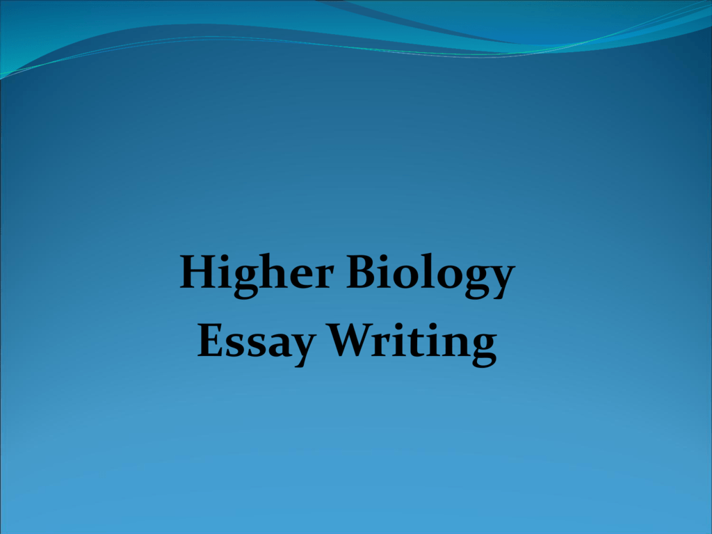 Good Synthesis Essay Topics  Essay Research Paper also How To Start A Proposal Essay Higher Human Biology Essay Writing Essay Writing Thesis Statement
