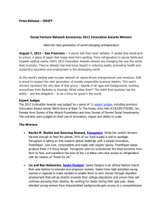Press Release – DRAFT Social Venture Network Announces 2013