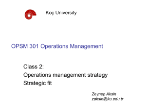 OPSM 451 Service Operations Management