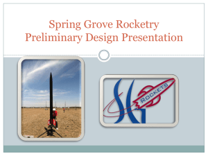 Vehicle Properties - Spring grove rockets