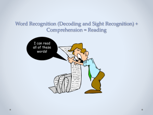 Teaching Word Recognition and Comprehension