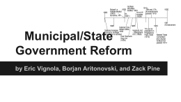 Municipal/State Government Reform