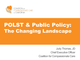 Policy Updates: POLST & Post-Acute Care
