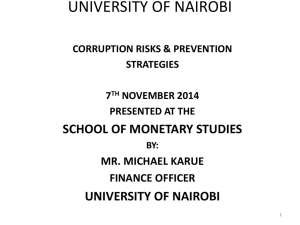 CORRUPTION RISKS & PREVENTION STRATEGIES IN FINANCIAL