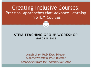 Teaching Inclusively - Schreyer Institute for Teaching Excellence