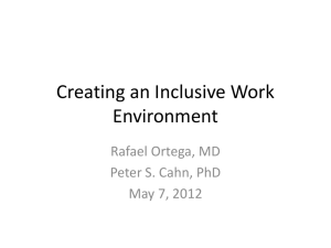 Creating an Inclusive Work Environment
