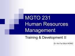 Training & Development II