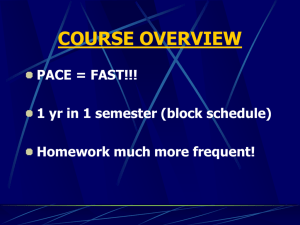 course overview - Buncombe County Schools