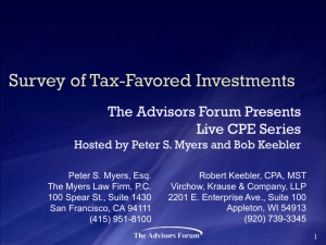Survey of Tax-Favored Investments
