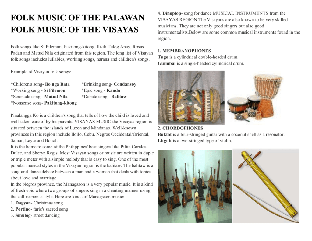 folk music of the palawan