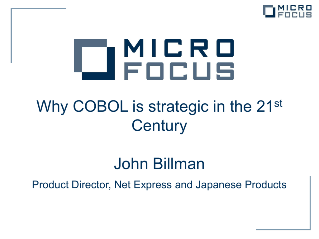 Why COBOL is strategic in the 21st Century