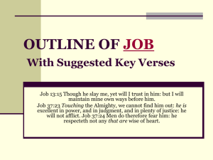 OUTLINE OF JOB With Suggested Key Verses