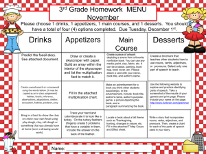 November 2015 Homework - Harrison County Schools