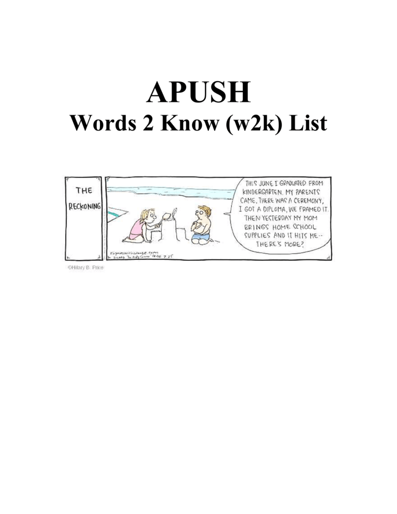 Apush W2k List