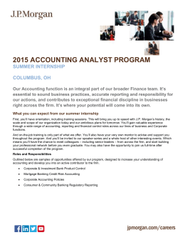 Accounting Analyst Program