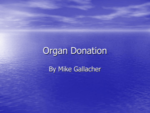 Organ Donation Persuasive Speech