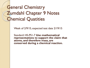 General Chemistry Zumdahl Chapter 7 Notes