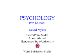 A.P. Psychology - Treatment for Psychological Disorders