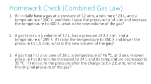 The Ideal Gas Law - Riverside Preparatory High School