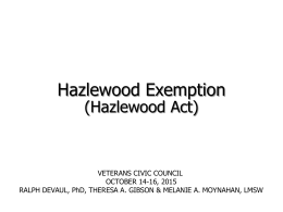 Hazelwood Overview - Veterans Civic Council