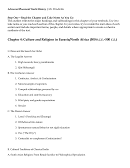 Ch 4 - Culture and Religion in Eurasia-North Africa
