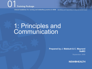 Principles and Communication