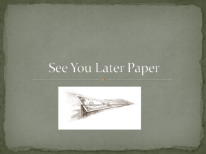 See You Later Paper