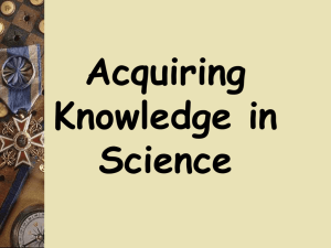 Knowledge in Science