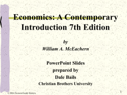 Chapter 1: The Art and Science of Economic Analysis