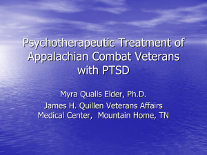 Proposed Changes To PTSD Diagnosis in DSM