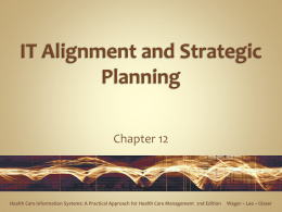 IT Alignment and Strategic Planning - Cal State LA