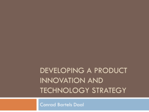 Developing a product innovation and technology strategy