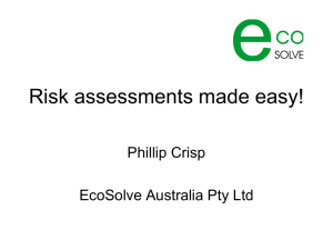 Risk assessments made easy!