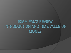 Intro to Time Value of Money