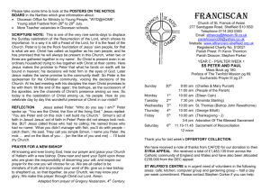 Franciscan Newsletter: Twelfth Sunday in Ordinary Time