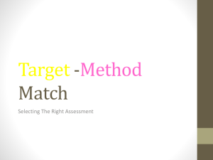 Target Method Match - Technology and Problem Based Learning