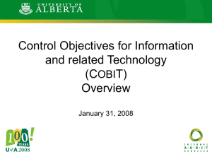 COBIT Presentation - Office of the Vice