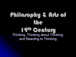 PowerPoint: Philosophy & The Arts