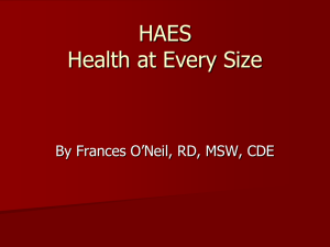 Health at Every Size HAES founder, Dr. Linda Bacon