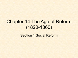 Chapter 14 The Age of Reform (1820