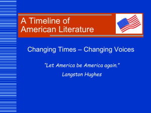 American Literature overview Rev FA11