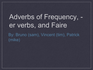 Adverbs of Frequency,