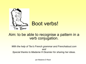 Boot verbs! - MFL Resources