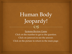Human Body Jeopardy!