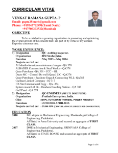 Freshersworld.com sample resume 1
