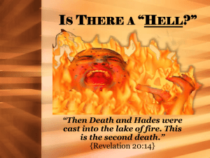 Is There a *Hell? - Harrodsburg Church of Christ