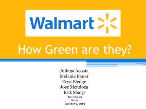 How Green is Walmart?