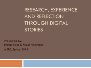 Bringing Together Student Research, Experience and Reflection